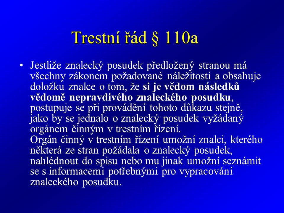 Trestní řád § 110a