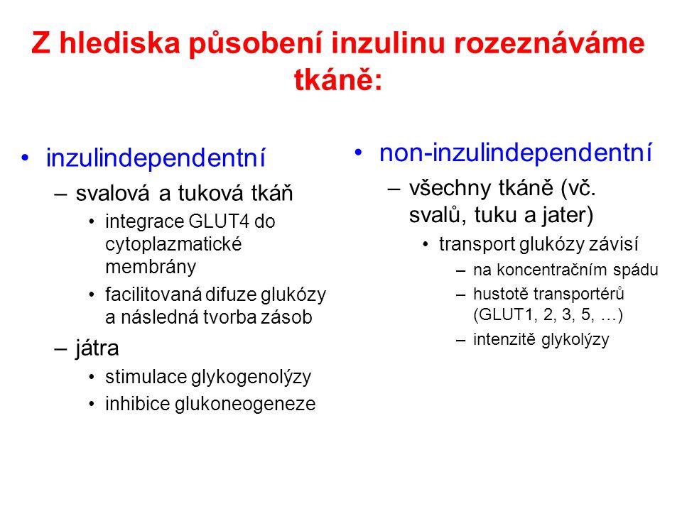 Z hlediska působení inzulinu rozeznáváme tkáně:
