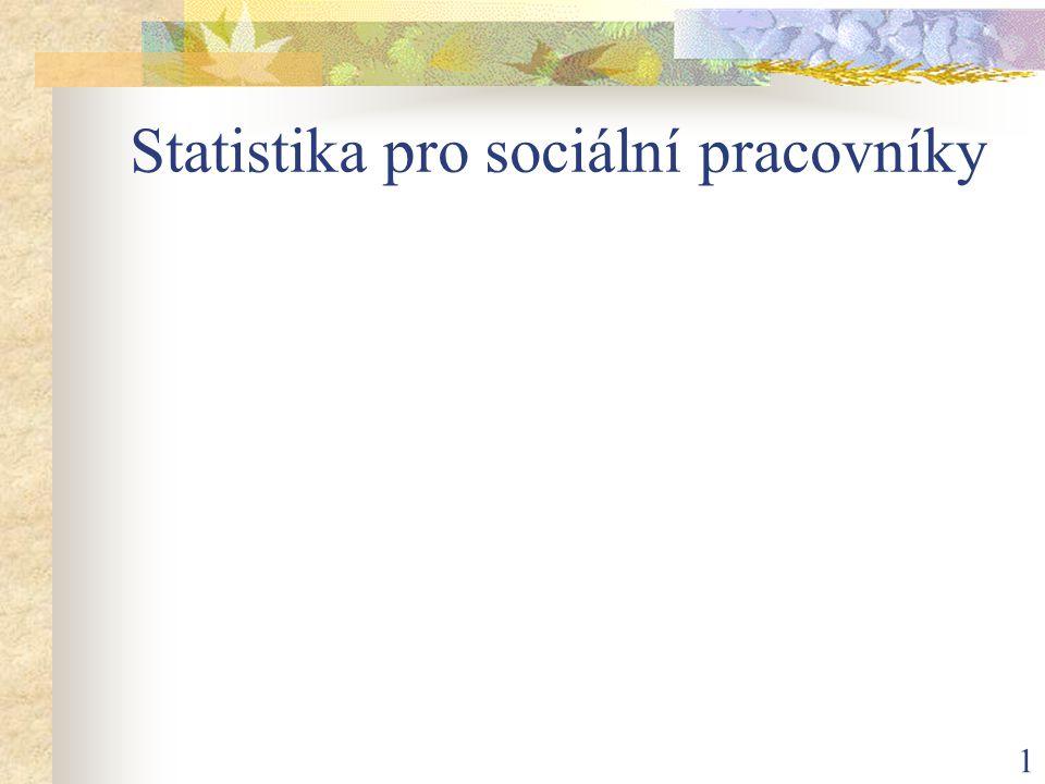 Statistika pro sociální pracovníky