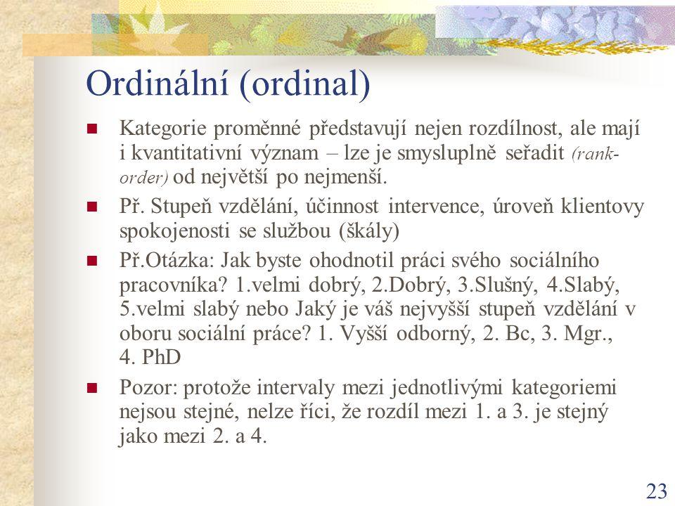 Ordinální (ordinal)