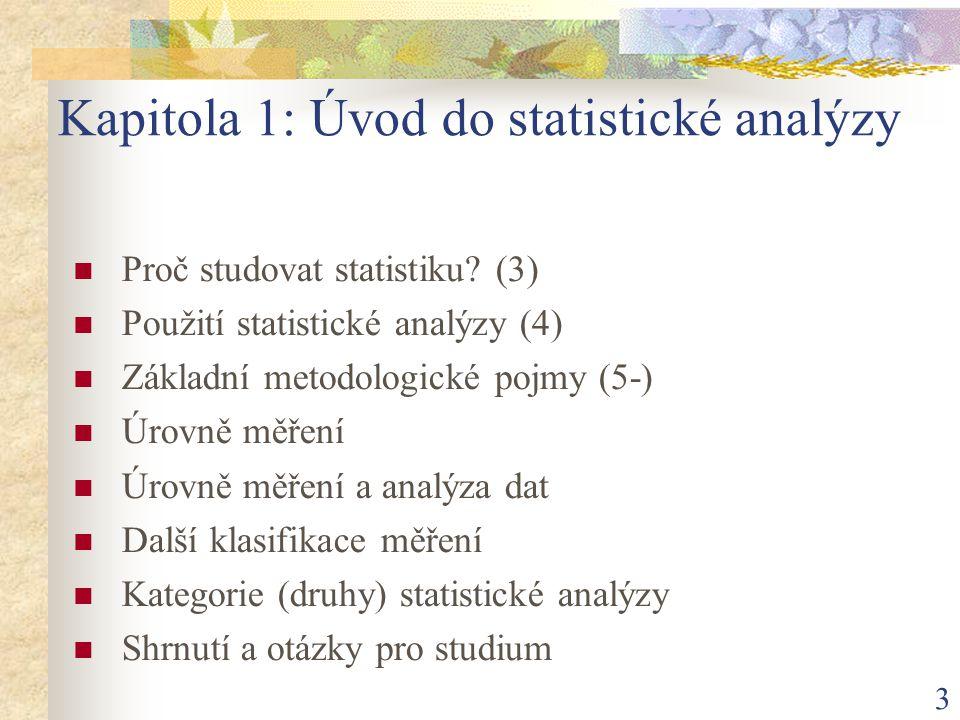 Kapitola 1: Úvod do statistické analýzy