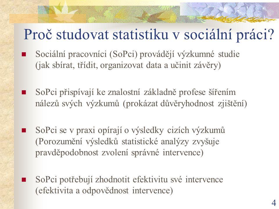 Proč studovat statistiku v sociální práci