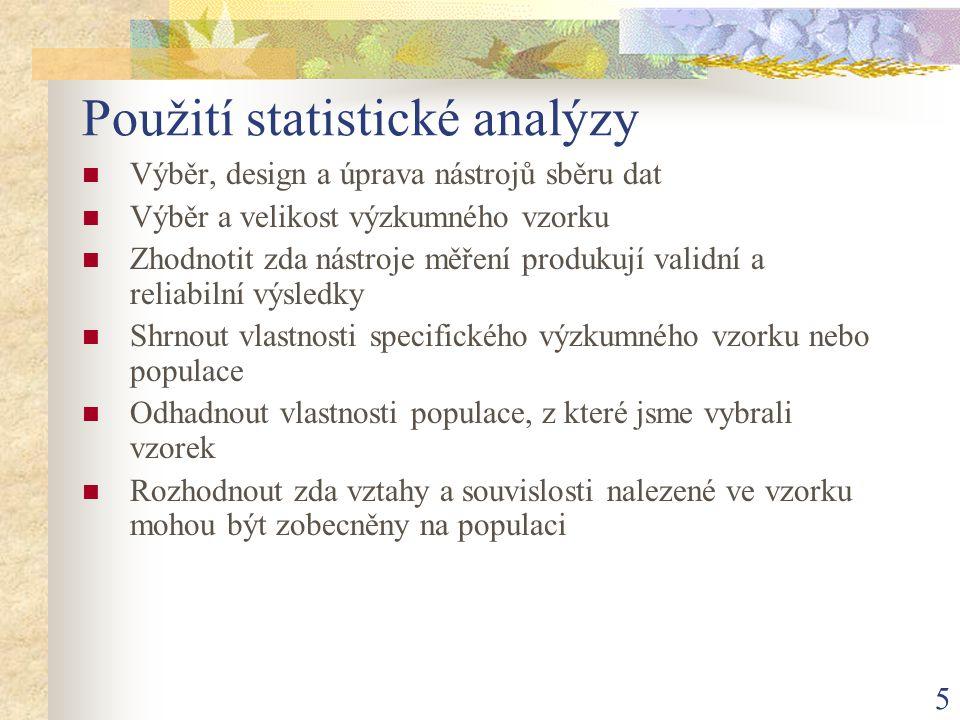 Použití statistické analýzy