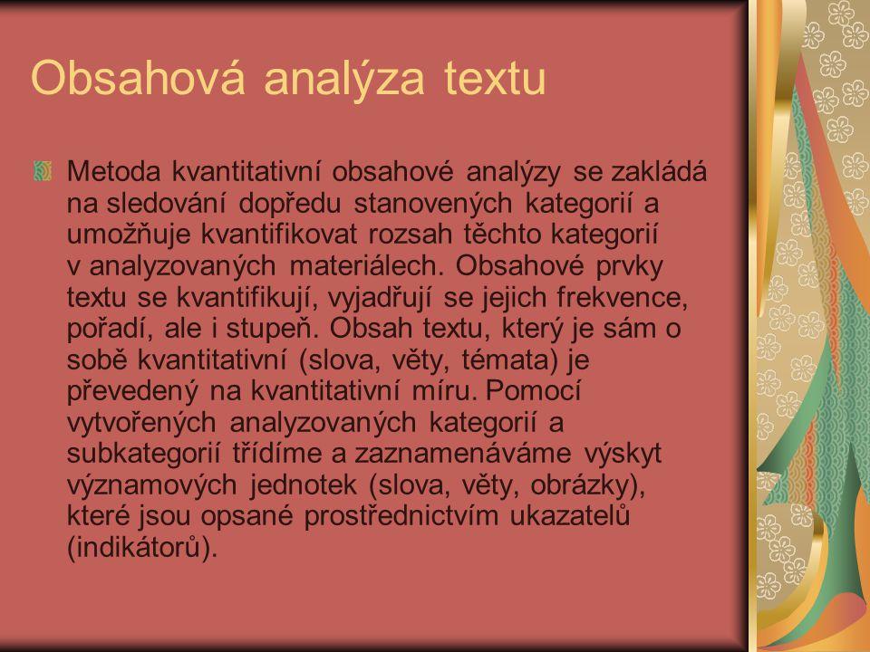Obsahová analýza textu