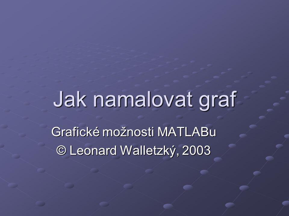 Grafické možnosti MATLABu © Leonard Walletzký, 2003