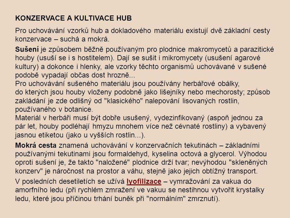 KONZERVACE A KULTIVACE HUB