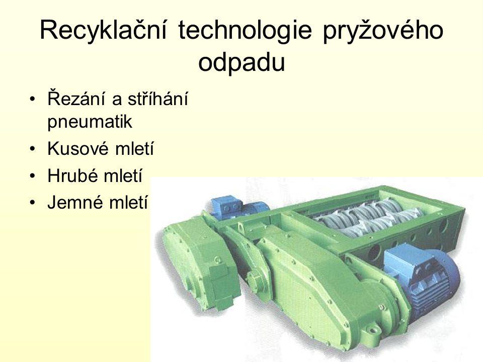 Recyklační technologie pryžového odpadu