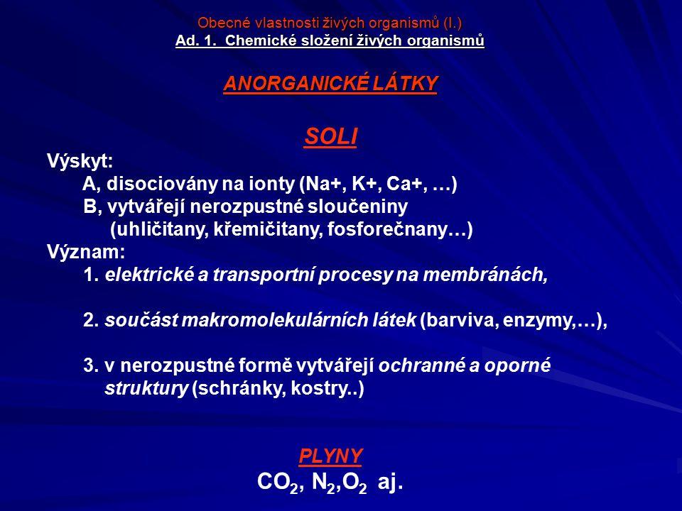SOLI CO2, N2,O2 aj. ANORGANICKÉ LÁTKY Výskyt: