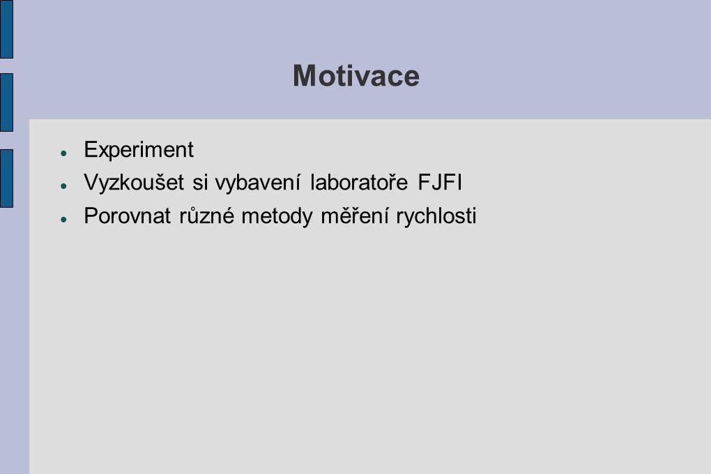 Motivace Experiment Vyzkoušet si vybavení laboratoře FJFI