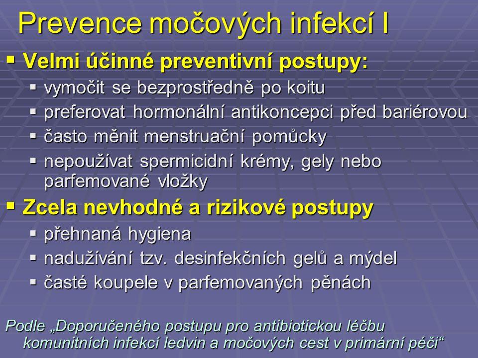 Prevence močových infekcí I