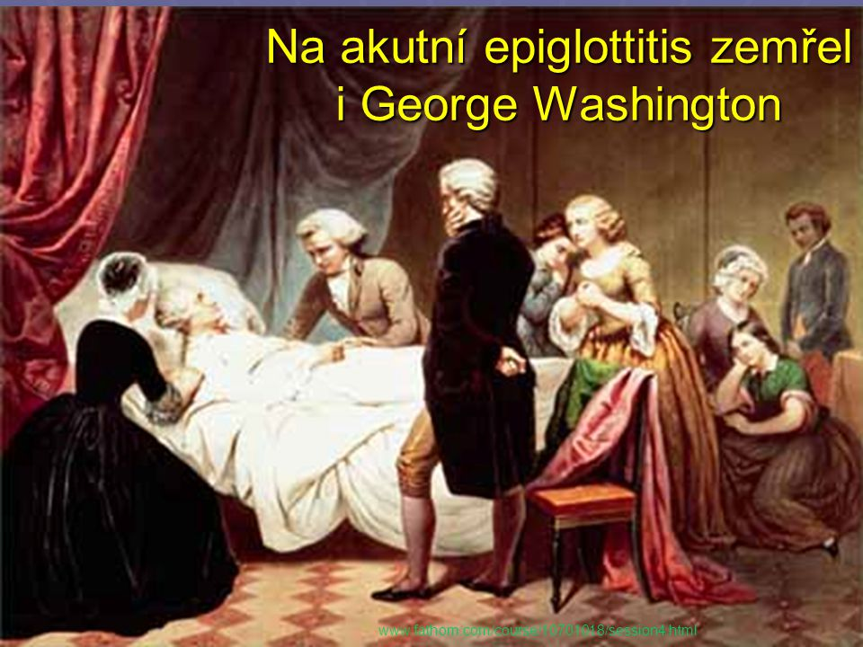Na akutní epiglottitis zemřel i George Washington