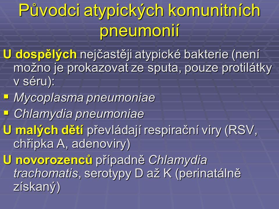 Původci atypických komunitních pneumonií