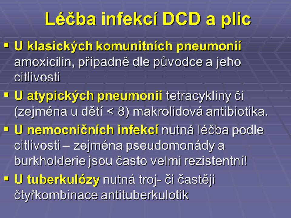 Léčba infekcí DCD a plic