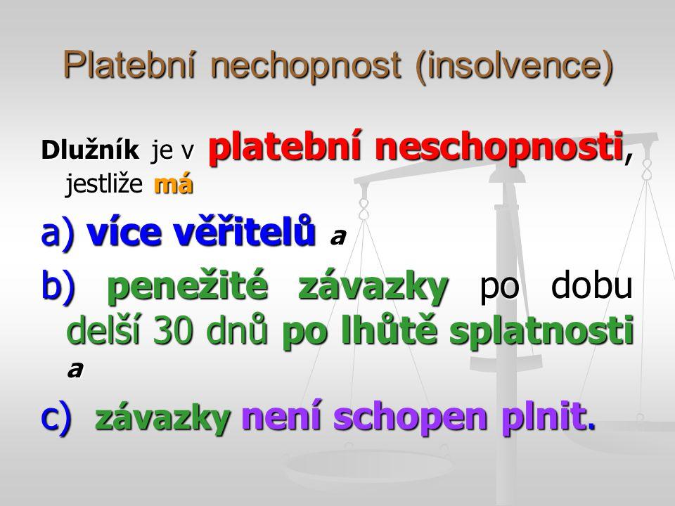 Platební nechopnost (insolvence)