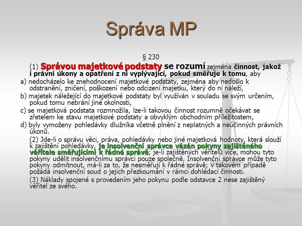 Správa MP § 230.
