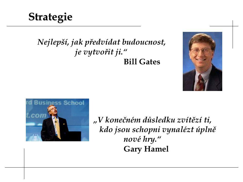 Strategie je vytvořit ji. Bill Gates