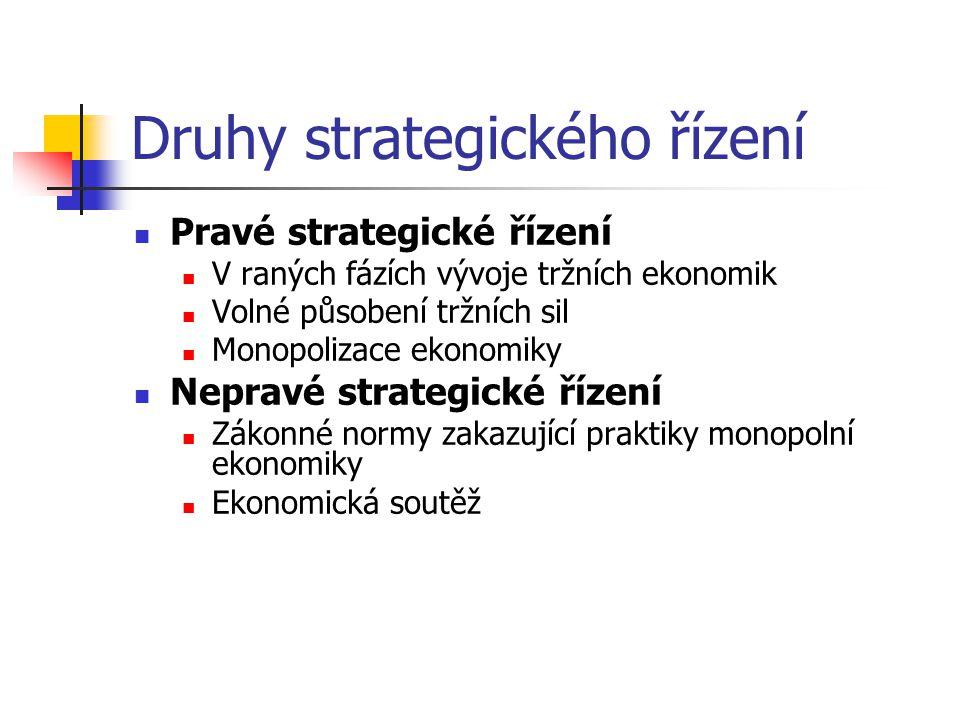 Druhy strategického řízení