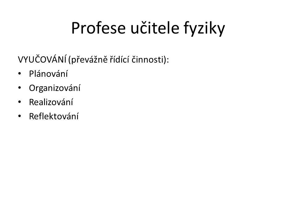 Profese učitele fyziky