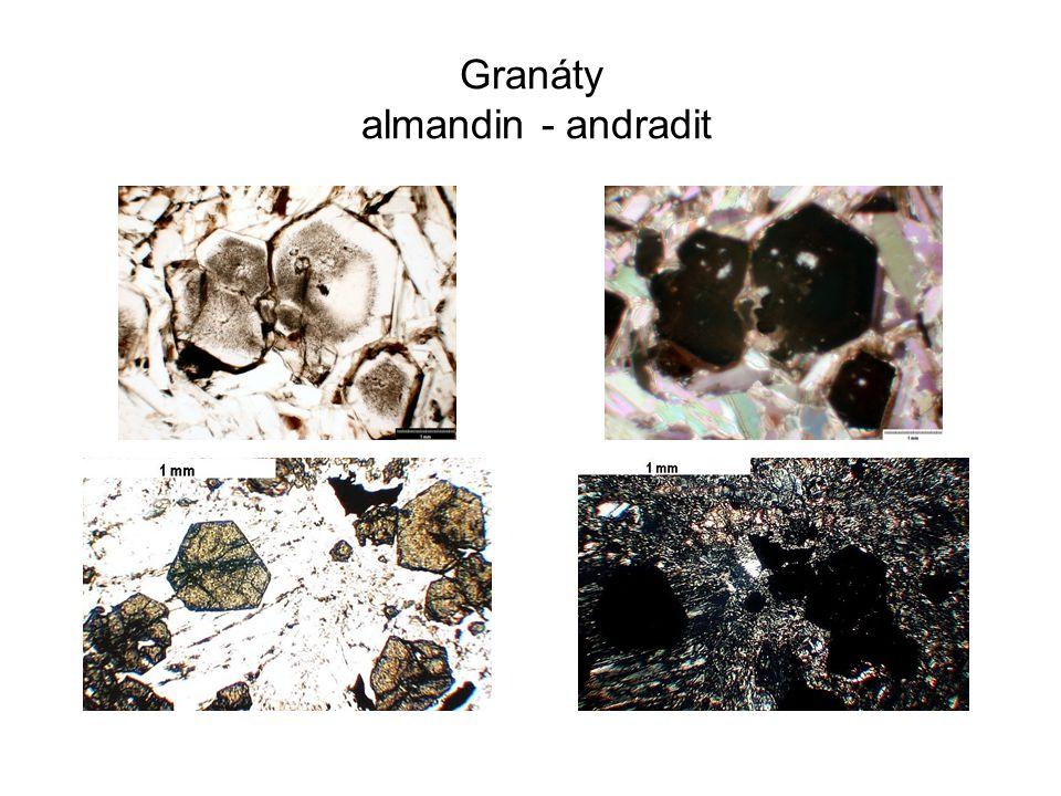 Granáty almandin - andradit