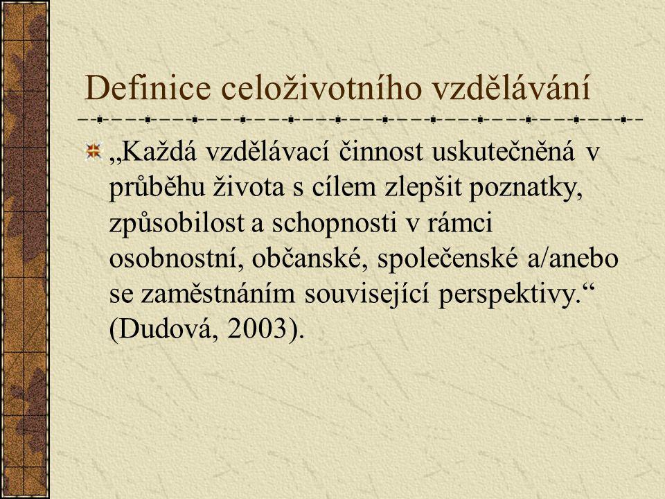 Definice celoživotního vzdělávání