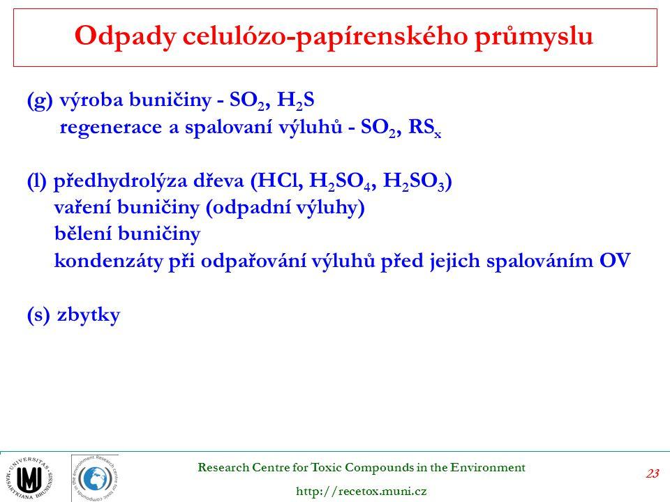 Odpady celulózo-papírenského průmyslu