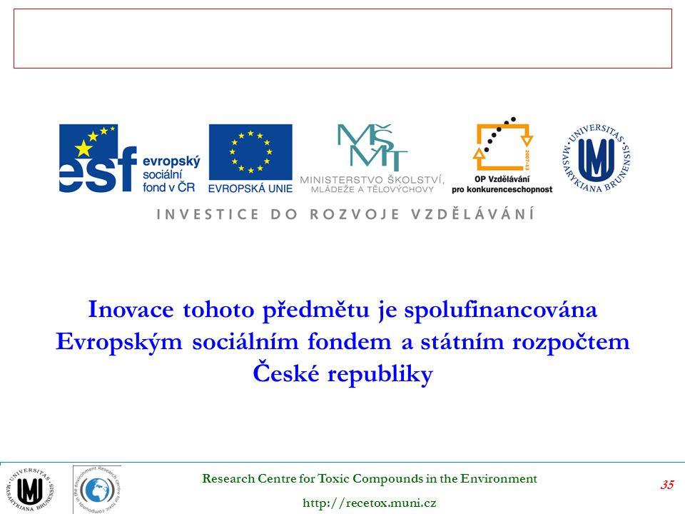 Inovace tohoto předmětu je spolufinancována Evropským sociálním fondem a státním rozpočtem České republiky