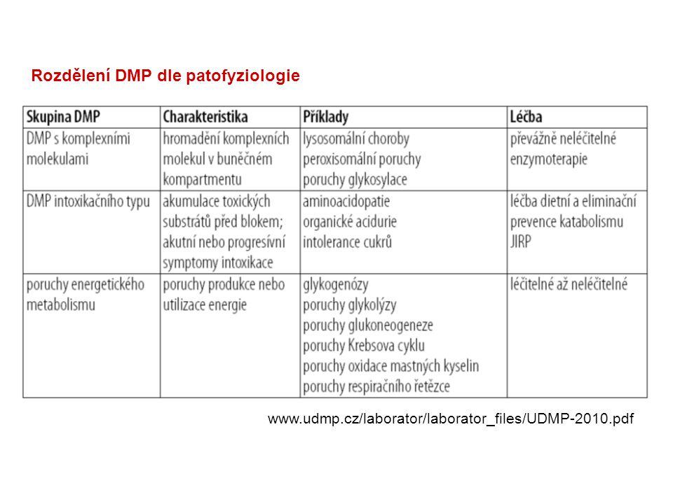 Rozdělení DMP dle patofyziologie