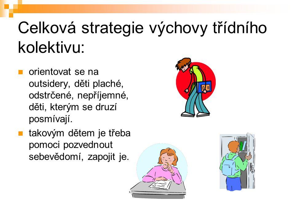 Celková strategie výchovy třídního kolektivu: