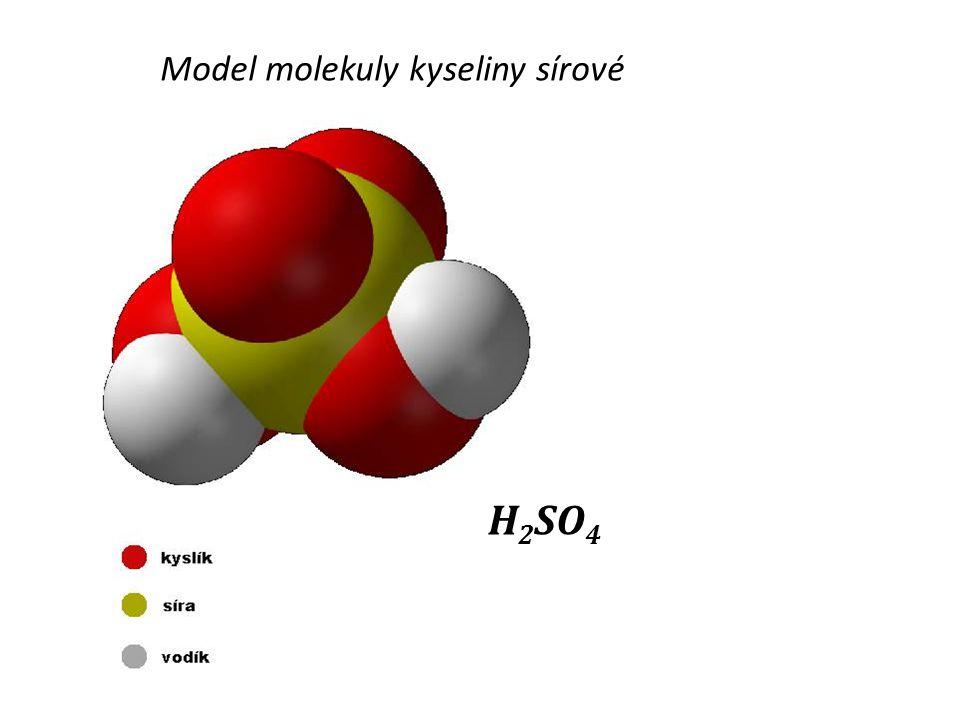 Model molekuly kyseliny sírové