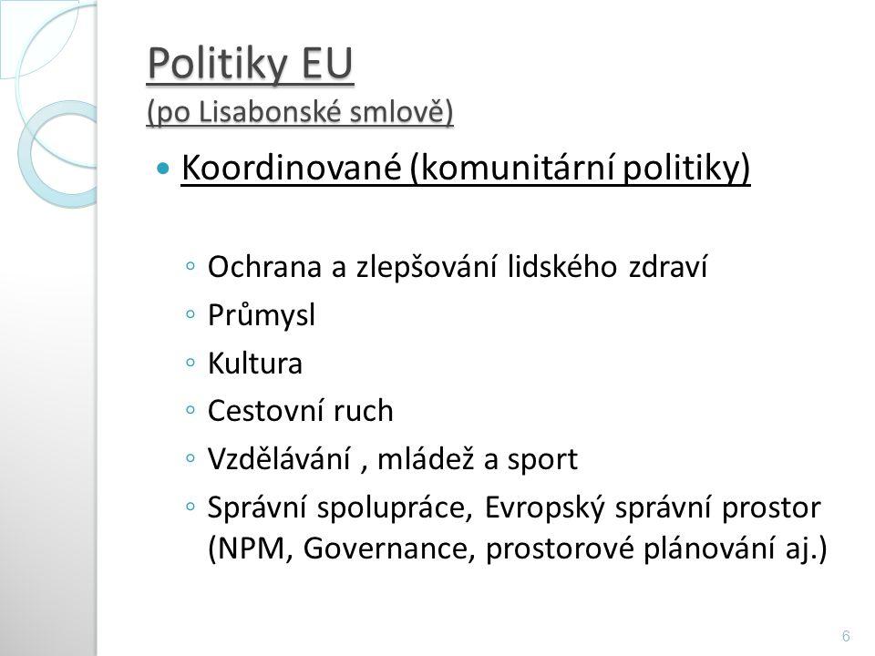Politiky EU (po Lisabonské smlově)