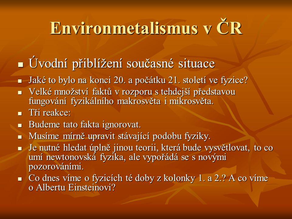 Environmetalismus v ČR