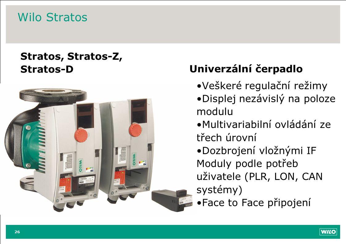 Wilo Stratos Stratos, Stratos-Z, Stratos-D Univerzální čerpadlo
