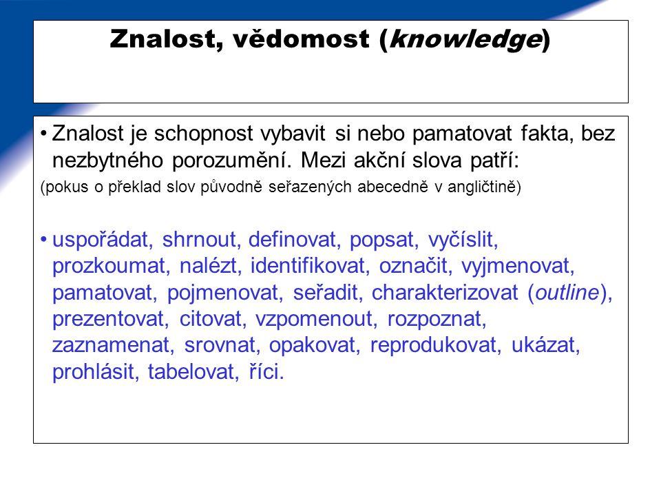 Příklady přítomnosti znalosti