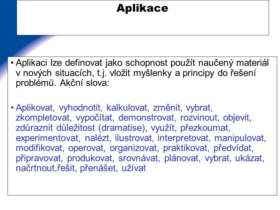 Příklady přítomnosti aplikace