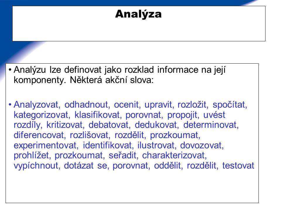 Příklady přítomnosti analýzy