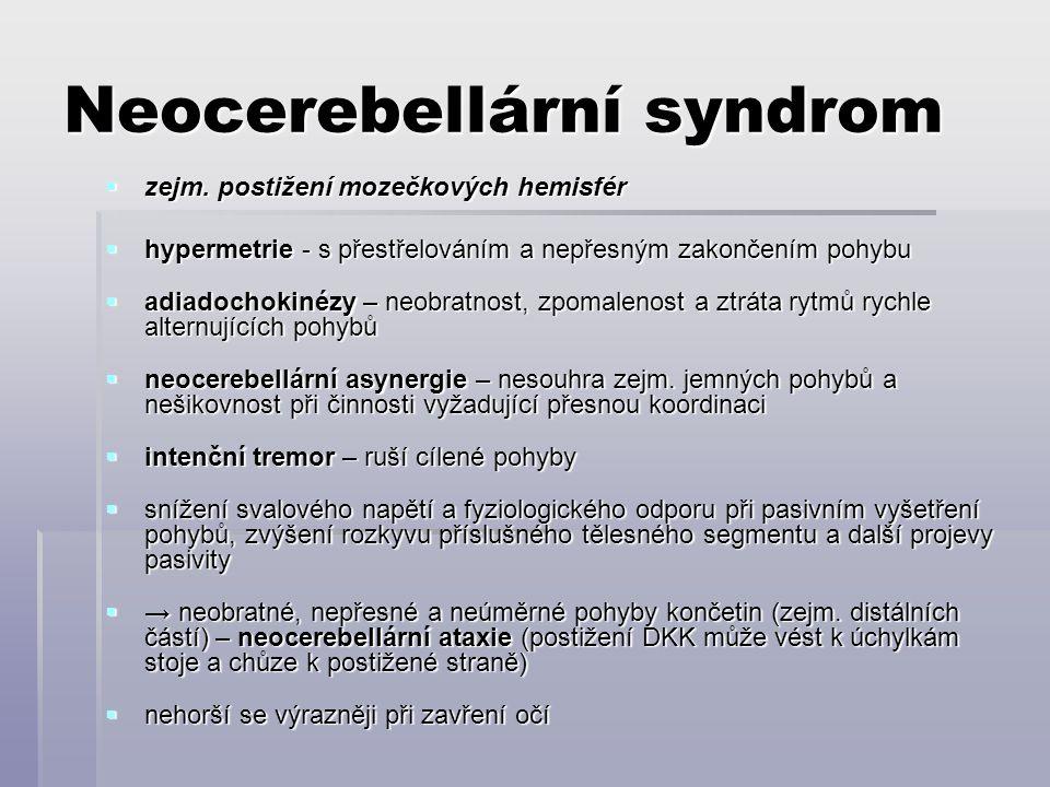 Neocerebellární syndrom