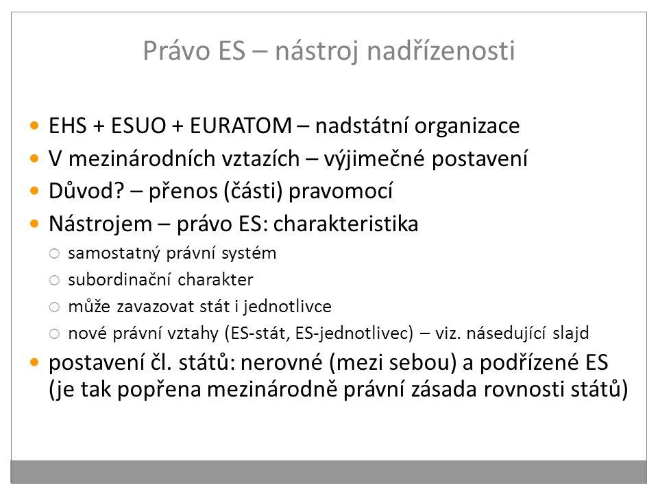 Právo ES – nástroj nadřízenosti