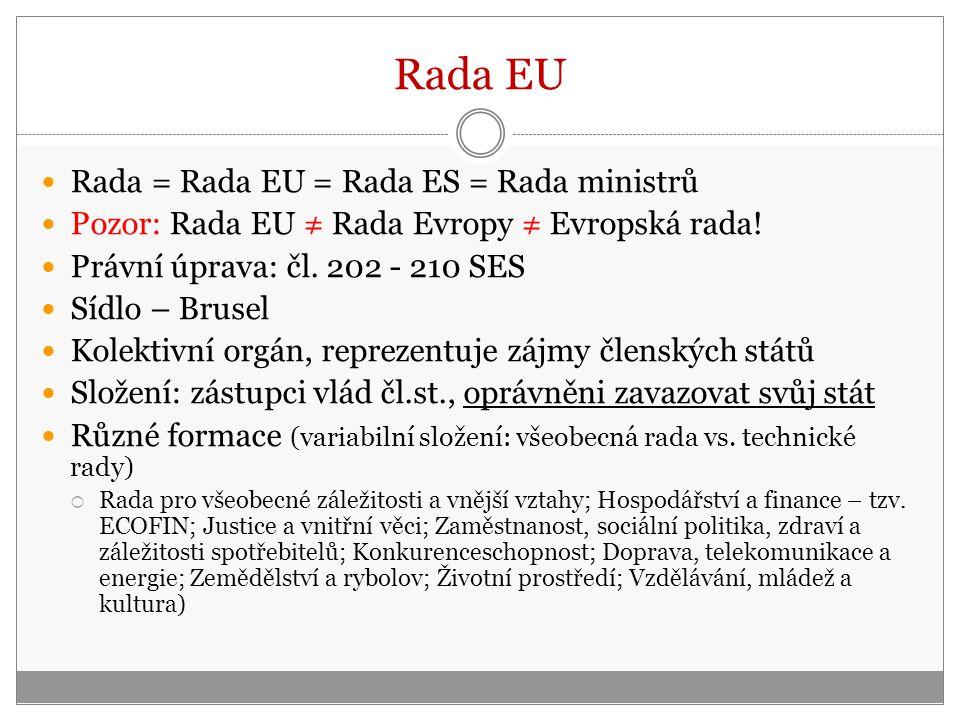 Rada EU Rada = Rada EU = Rada ES = Rada ministrů