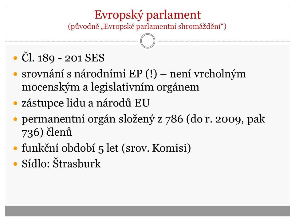 """Evropský parlament (původně """"Evropské parlamentní shromáždění )"""