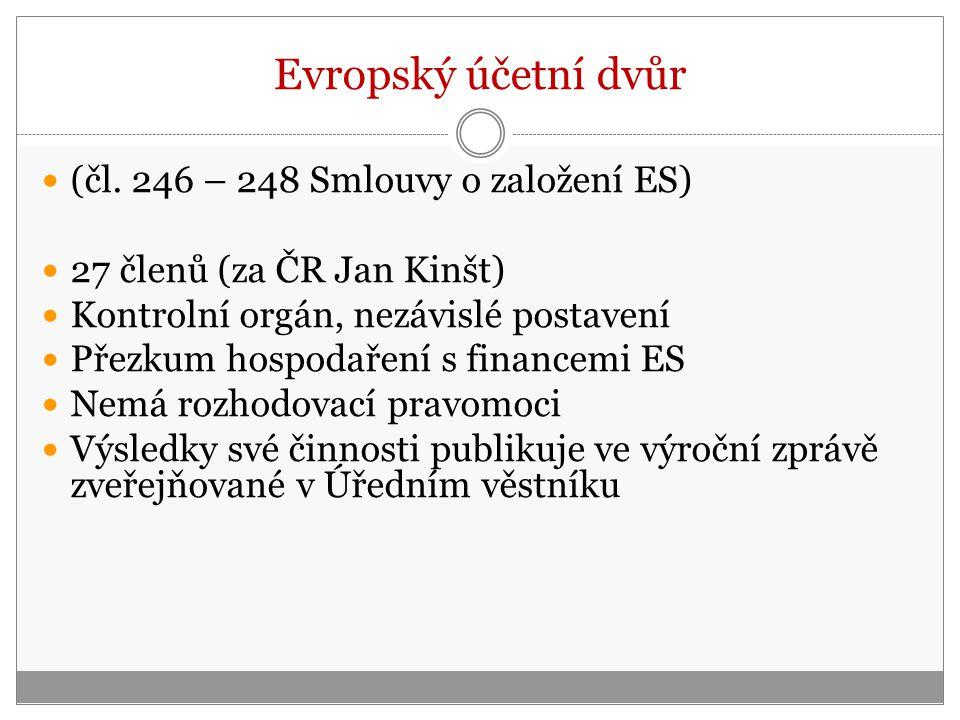 Evropský účetní dvůr (čl. 246 – 248 Smlouvy o založení ES)