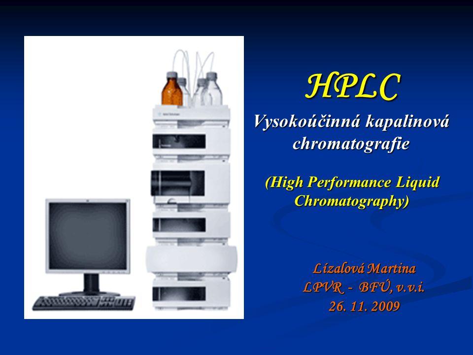 HPLC Vysokoúčinná kapalinová chromatografie