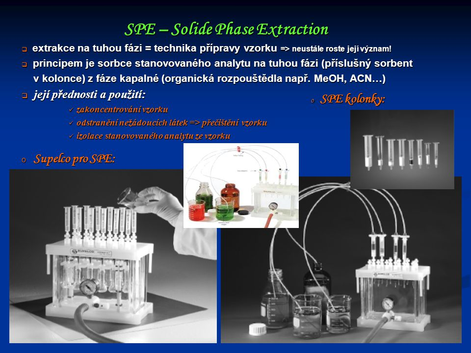 SPE – Solide Phase Extraction