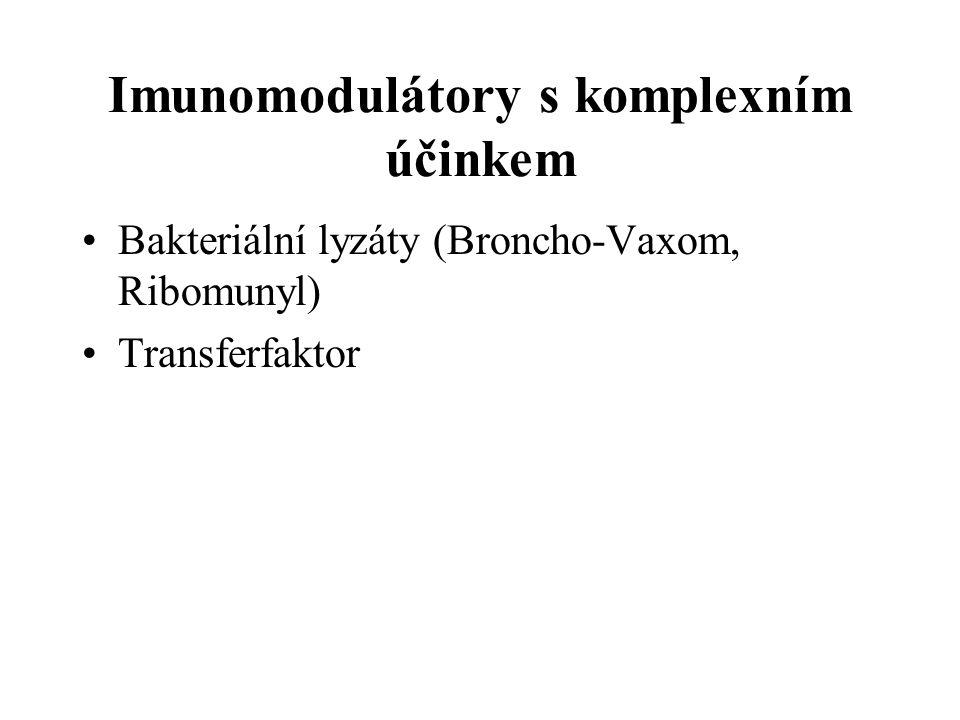 Imunomodulátory s komplexním účinkem