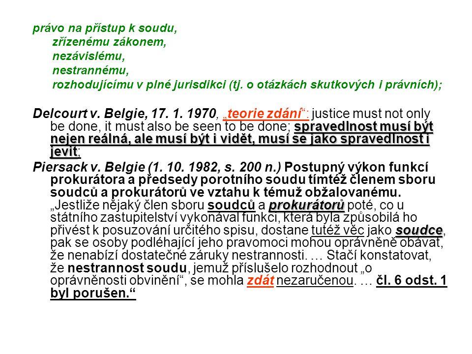 právo na přístup k soudu,