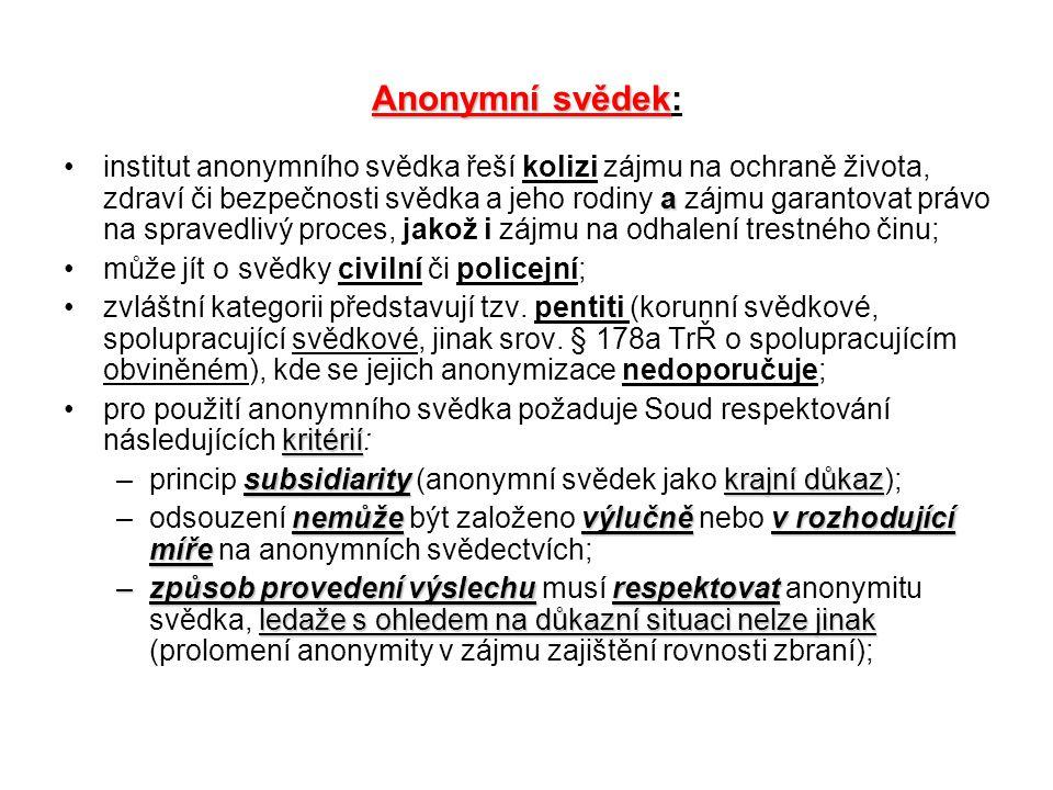 Anonymní svědek: