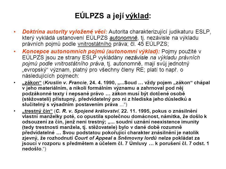 EÚLPZS a její výklad: