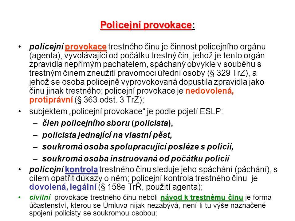 Policejní provokace: