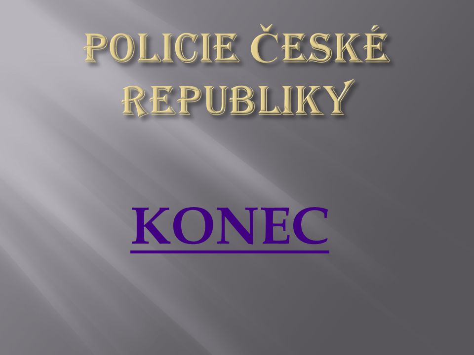 Policie České republiky