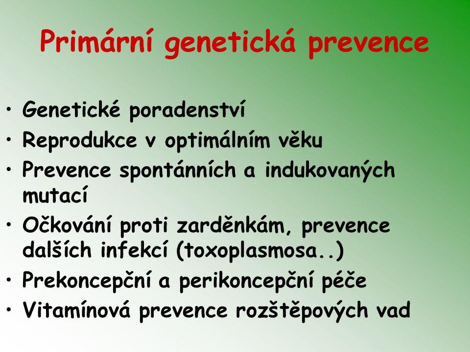 Primární genetická prevence
