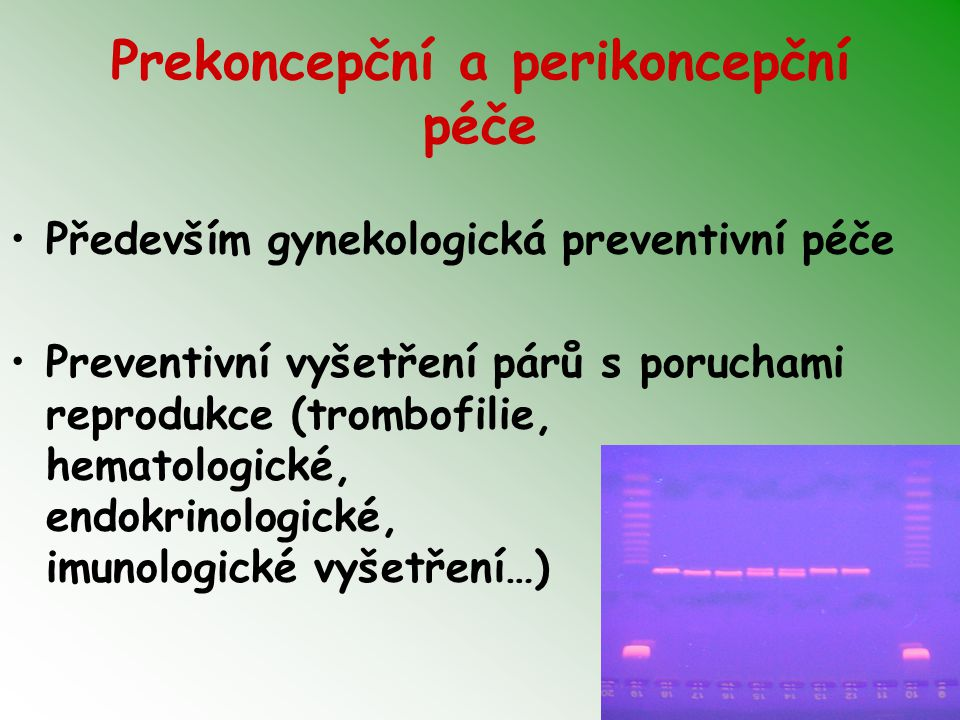 Prekoncepční a perikoncepční péče
